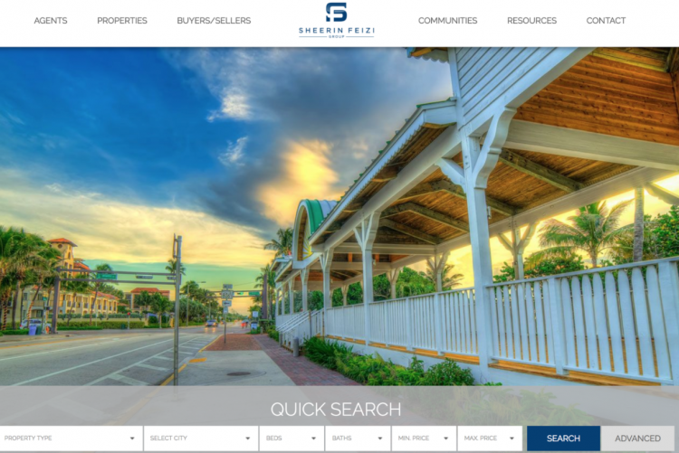 Real Estate Agent Websites search menus