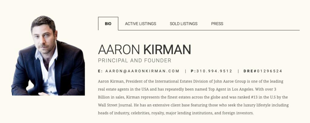 Aaron Kirman Real Estate