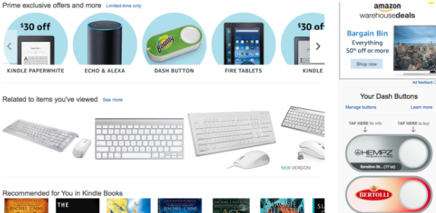 cluttered amazon sales page
