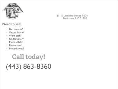 Need to sell your home direct mail letter example