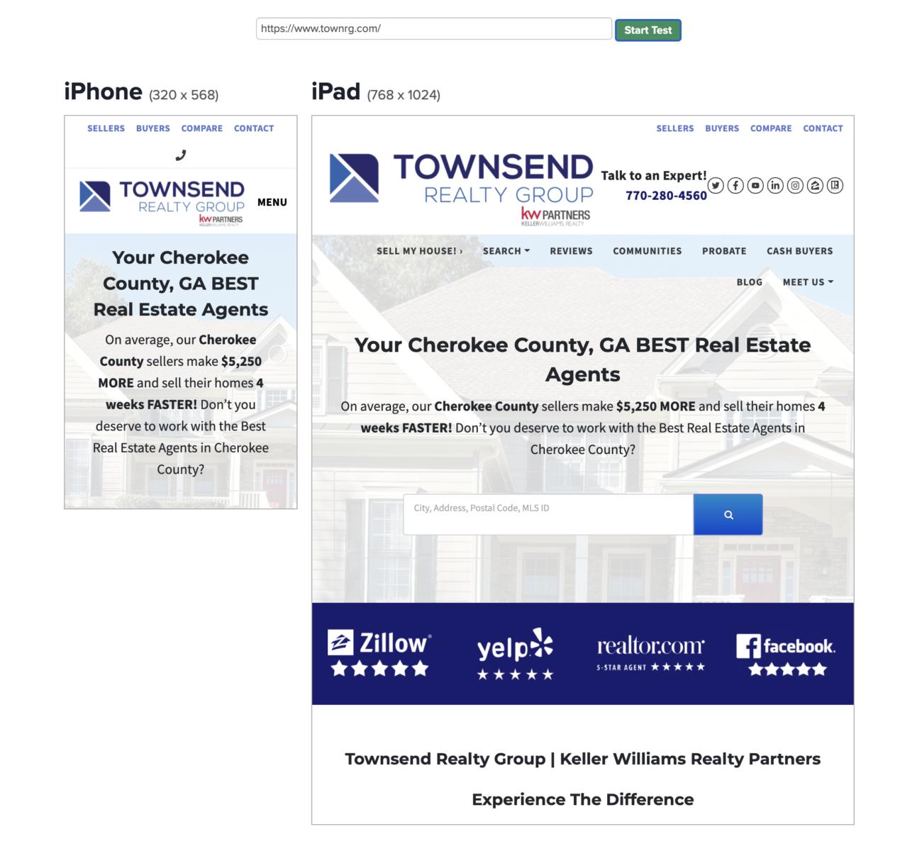 Mobile SEO Optimized Real Estate Website