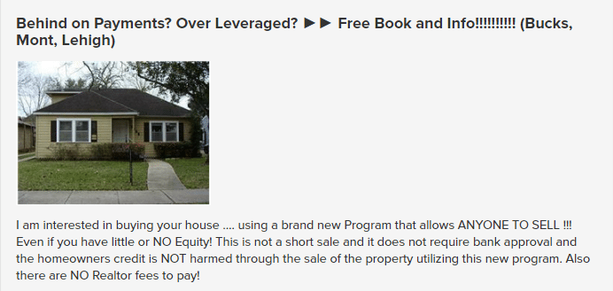 Real estate Craigslist ad