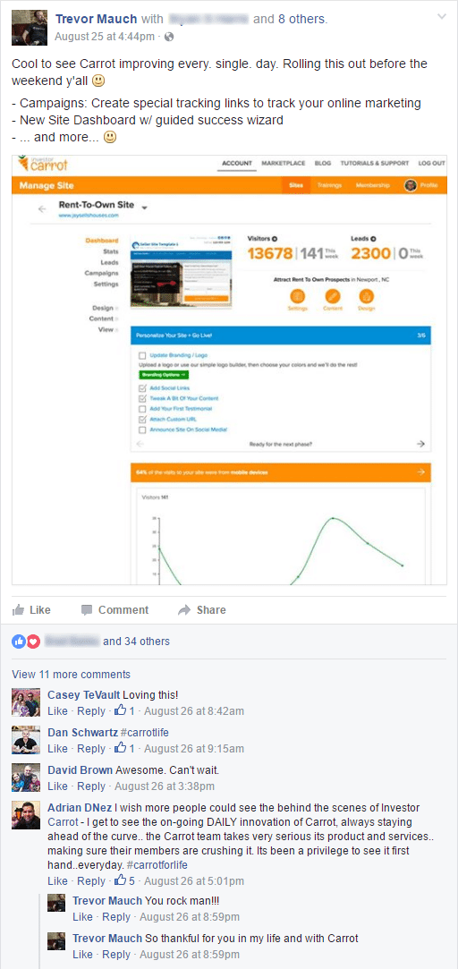 respond to FB comments