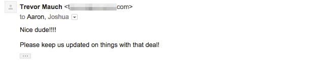 real estate testimonial deal