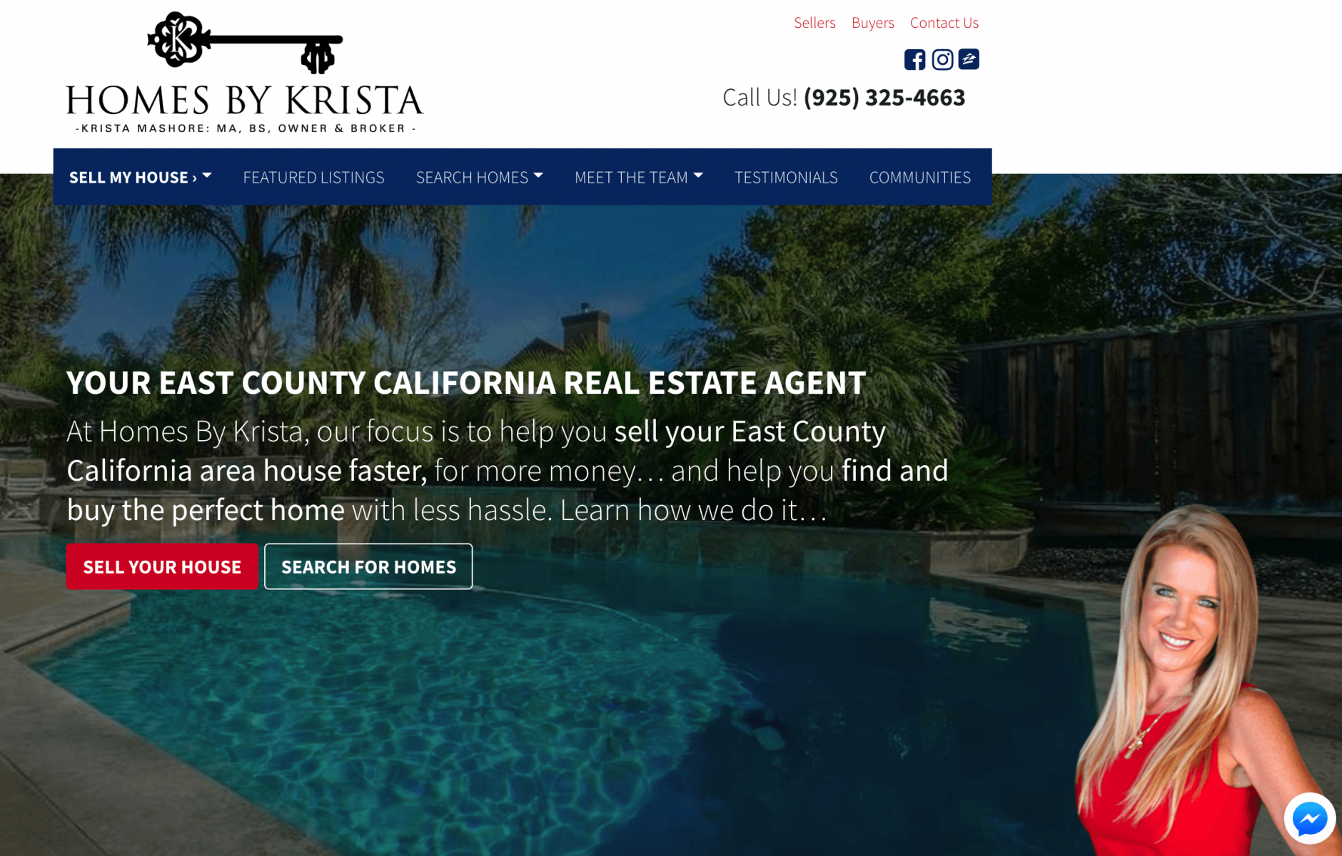 real estate agent websites home page