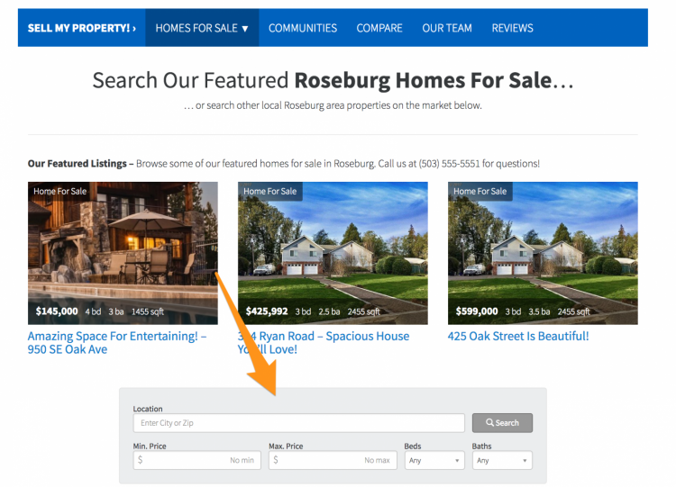 real estate agent websites with idx