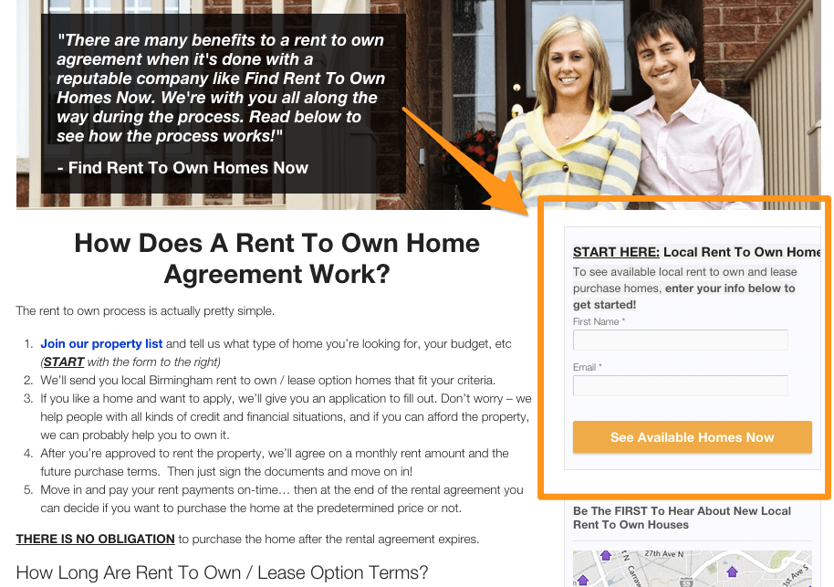 real estate investor websites for rent to own