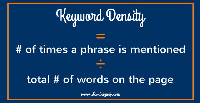 blog post keyword density