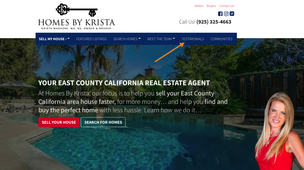 real estate agent website testimonials