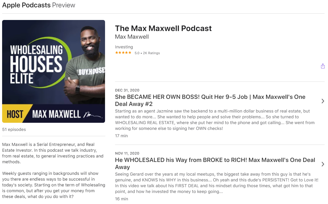 The Max Maxwell Podcast