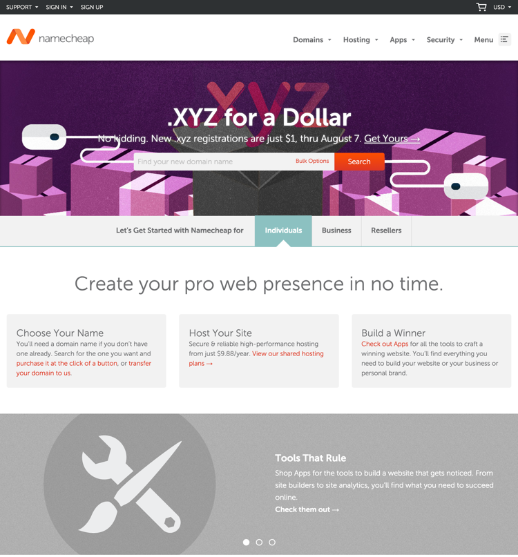 Namecheap.com Domain Provider