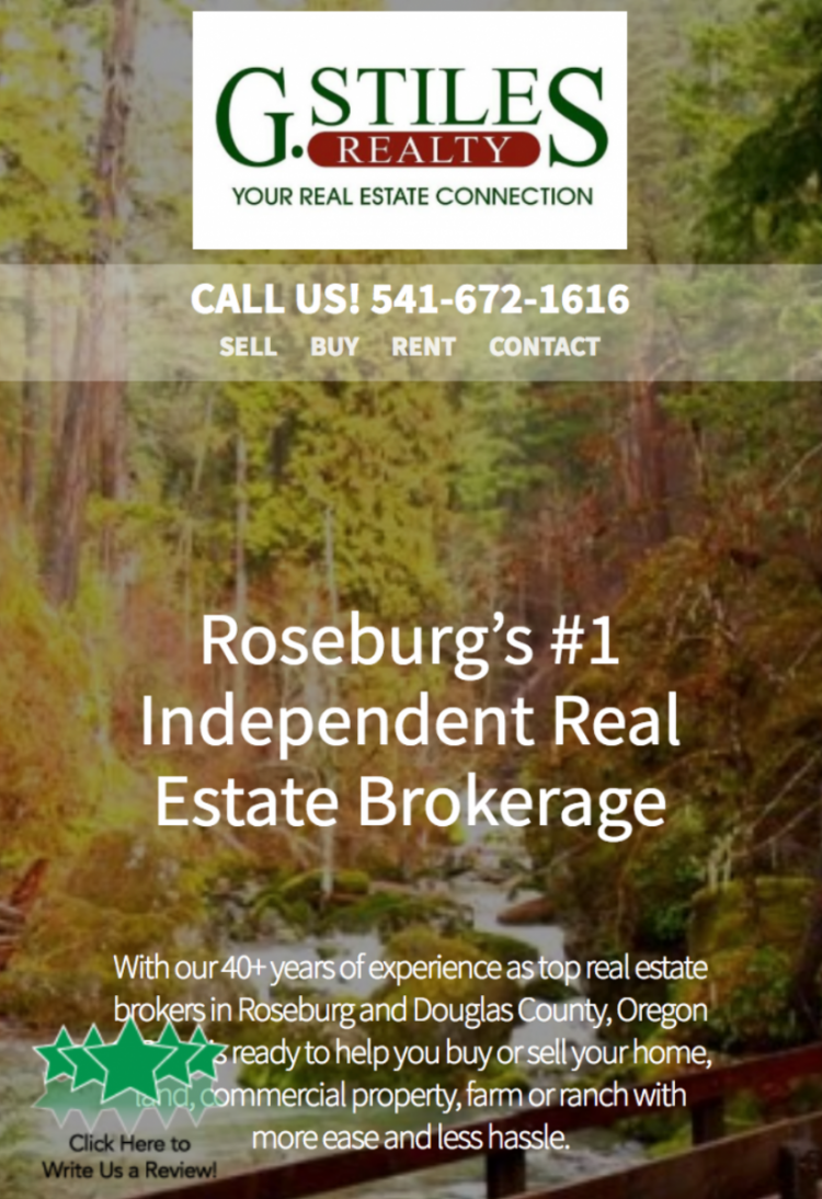 mobile real estate website design