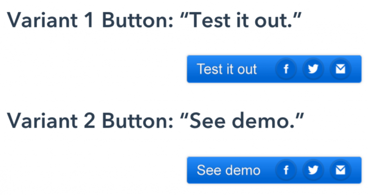 hubspot button copy test