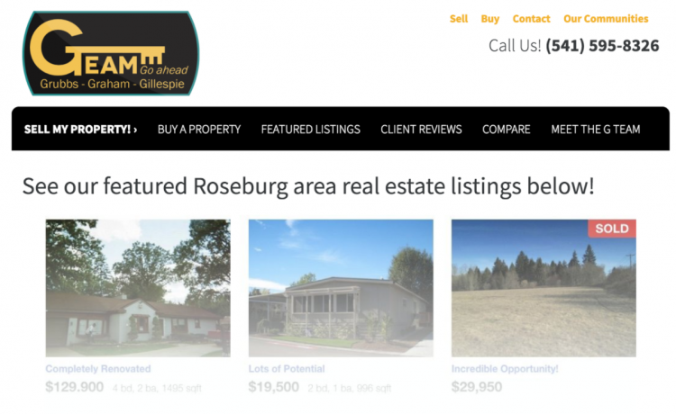 featured real estate listing using IDX