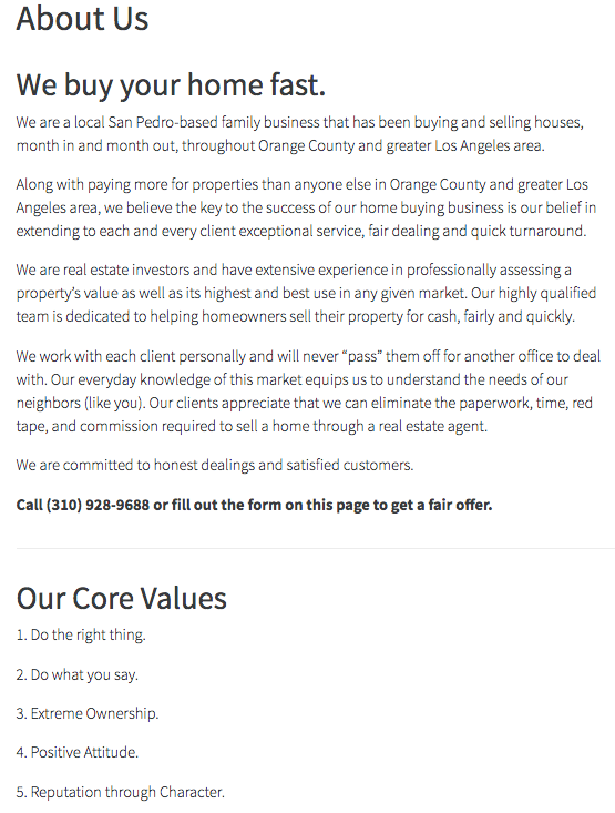 real estate investor about page
