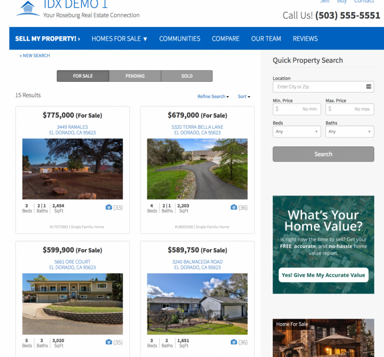 realtor websites with idx