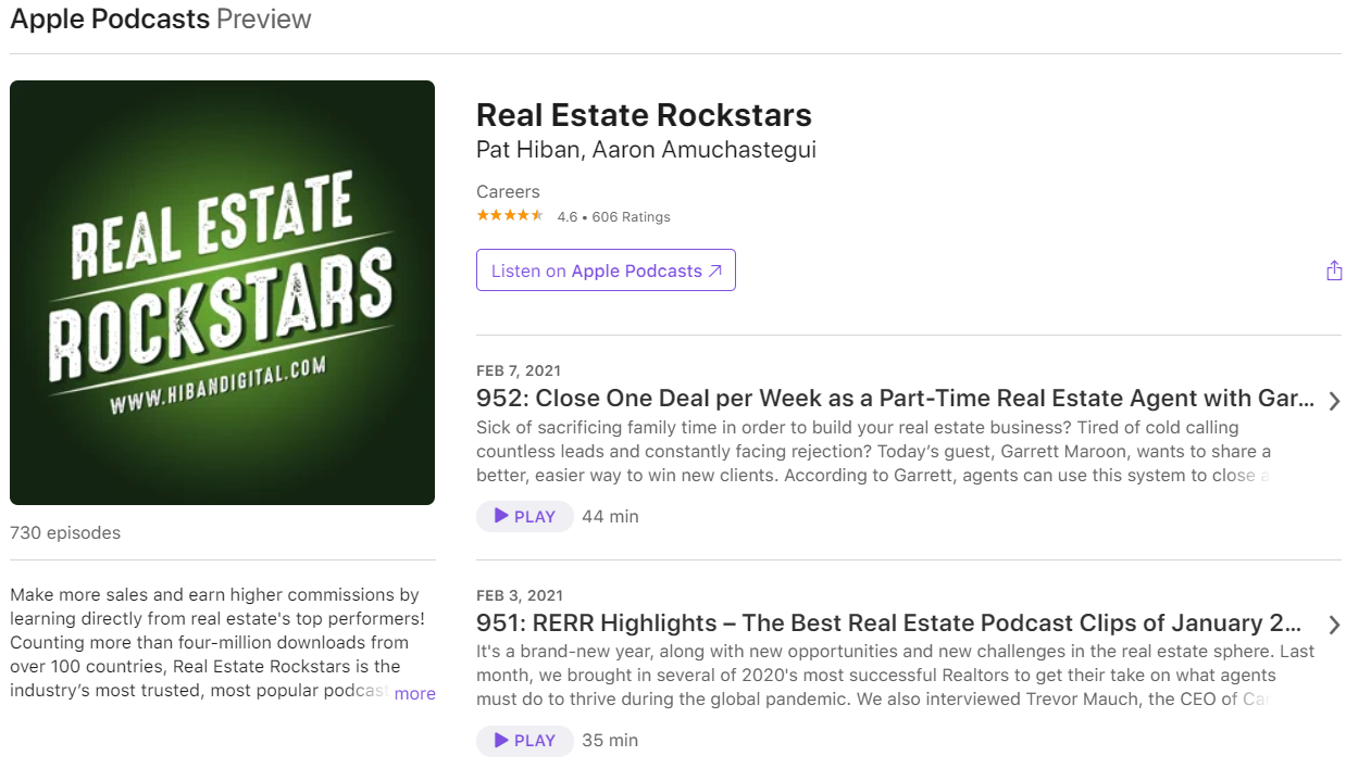 Real estate Rockstars podcast