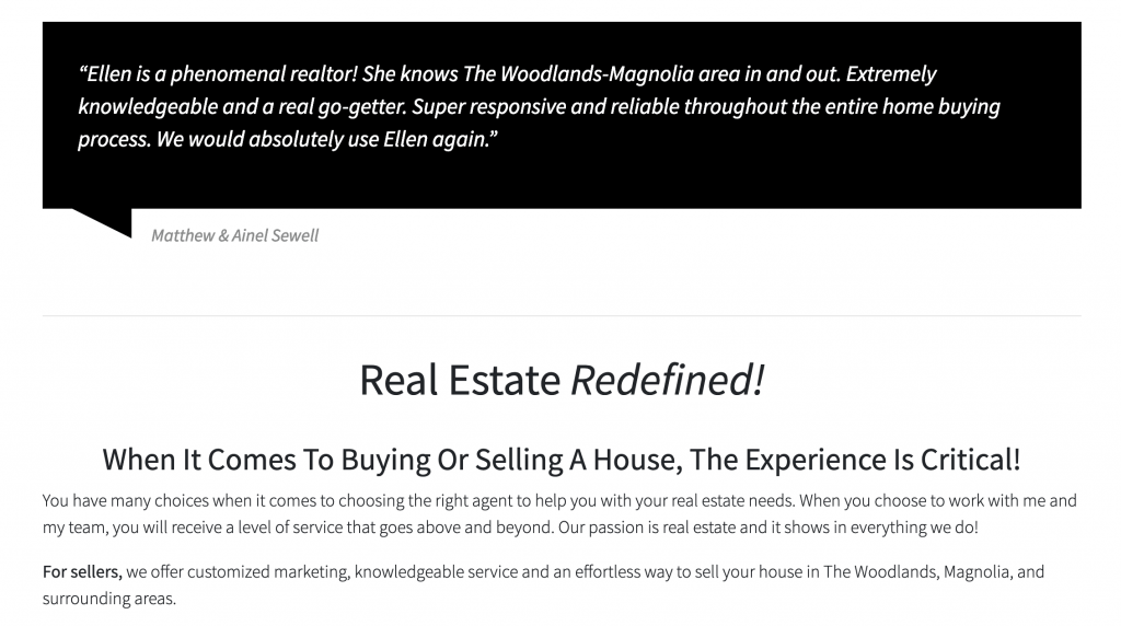 the importance of Real estate agent testimonials