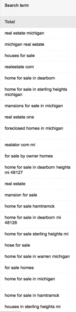 (Remember, these are what people actually searched for right before they saw our ads)