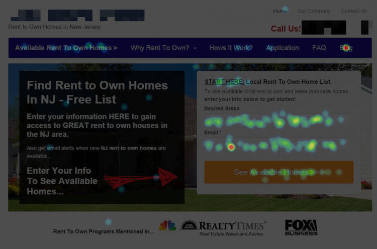 Rent To Own Heatmap