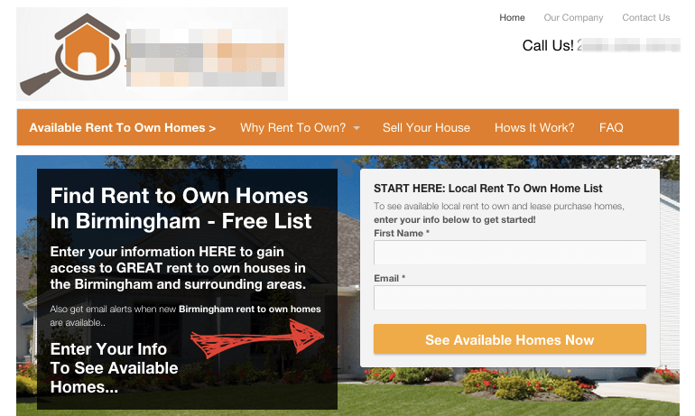 rent to own website templates conversion