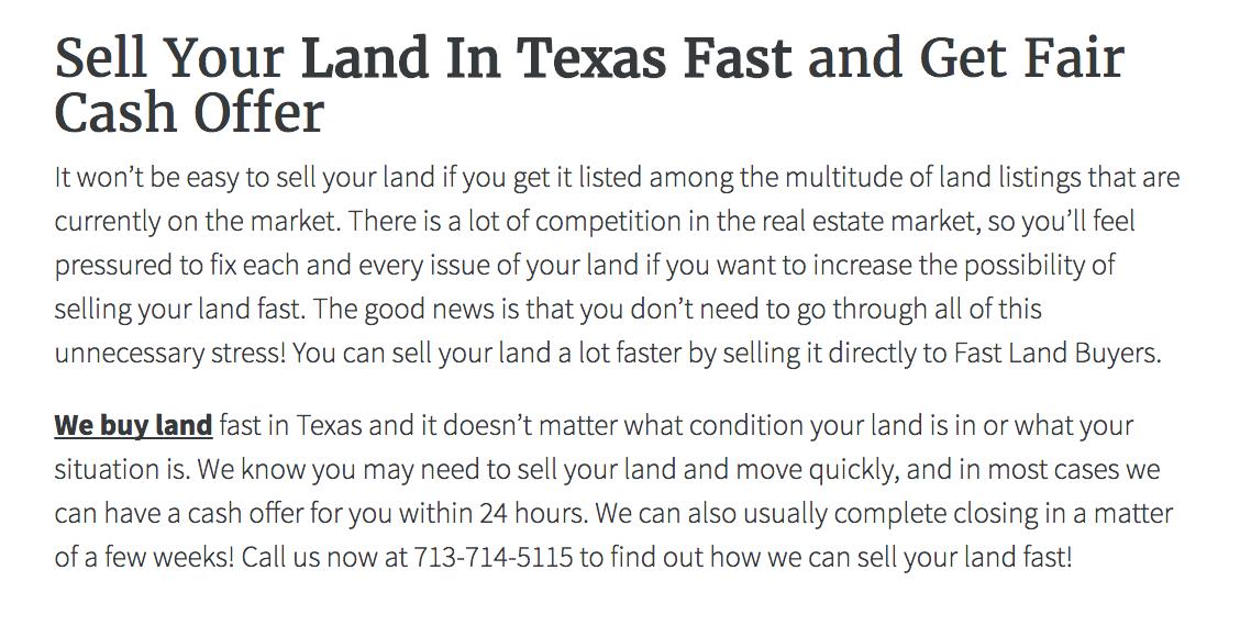 Land Seller Websites Template