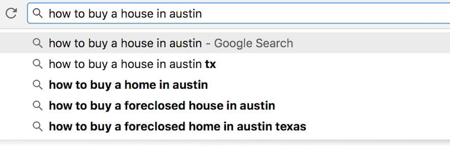 google suggest keywords for real estate agents