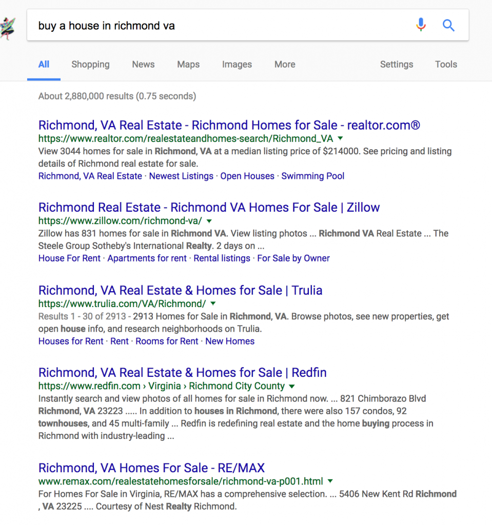 realtor keywords for seo