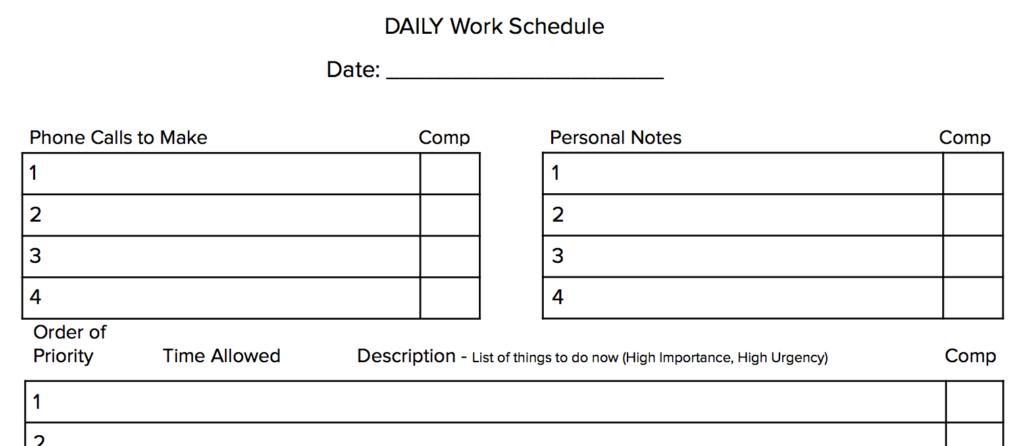 daily-work-schedule