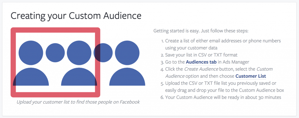 Creating your Custom Audience