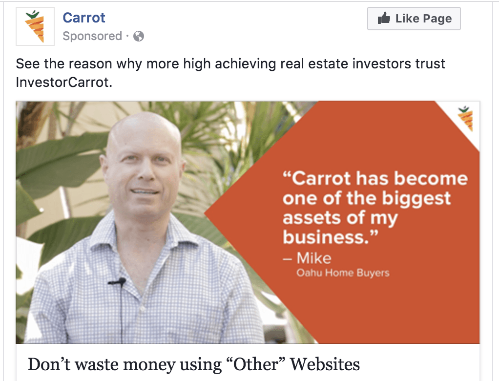 using testimonials in your fb ads