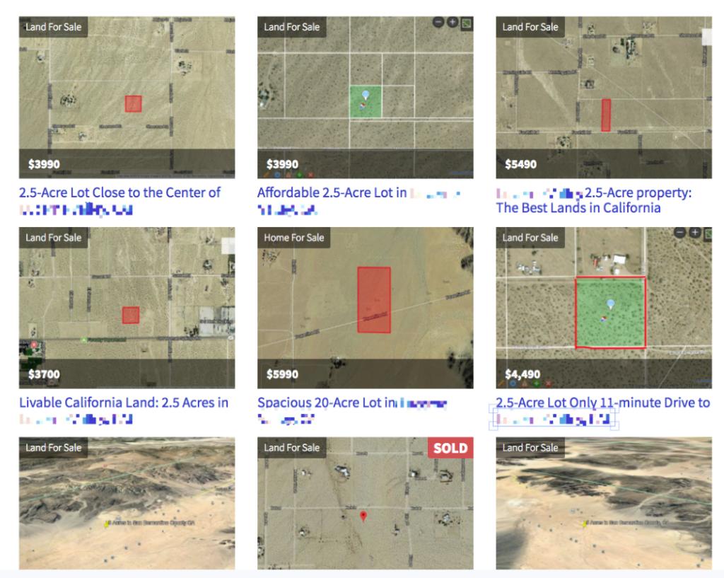 Land Seller Website In Action