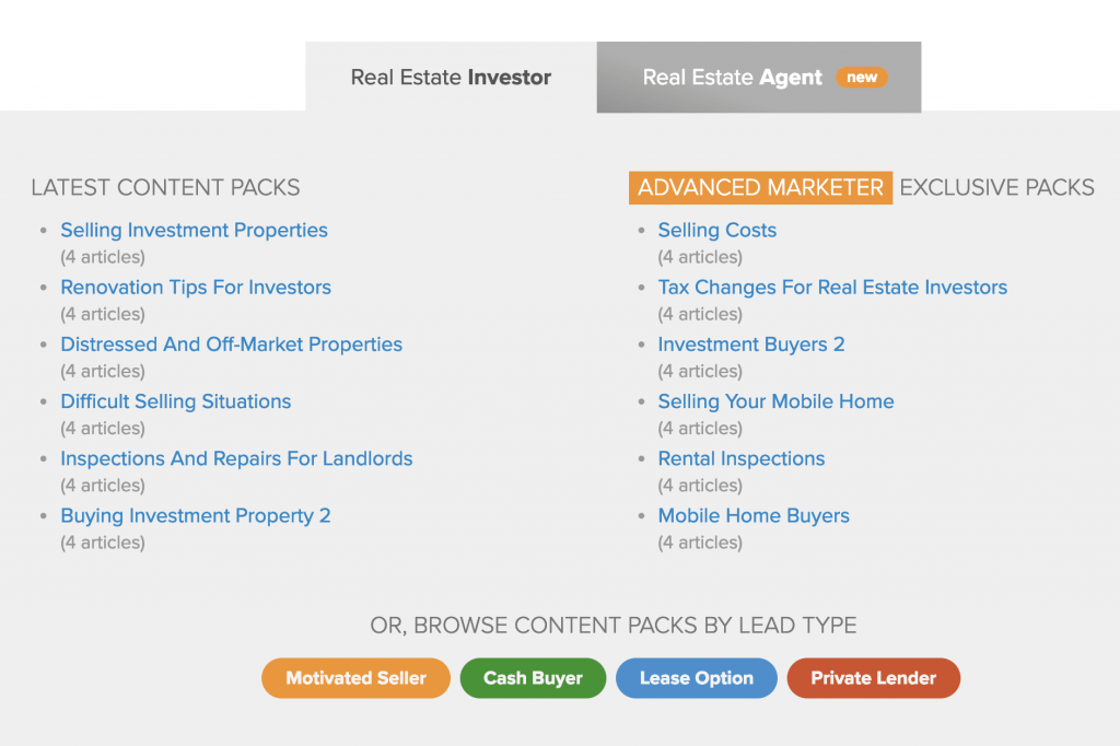 carrot content pro blog posts for investors and agents