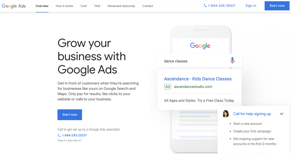 create a google ads account