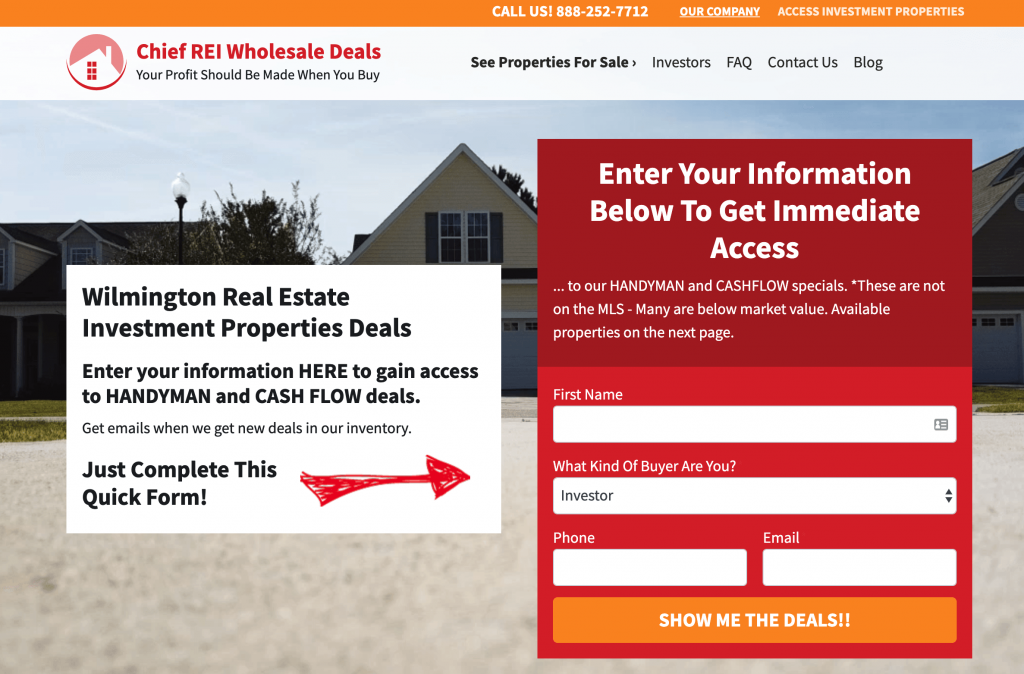 Cash Buyer - Investment Property Website