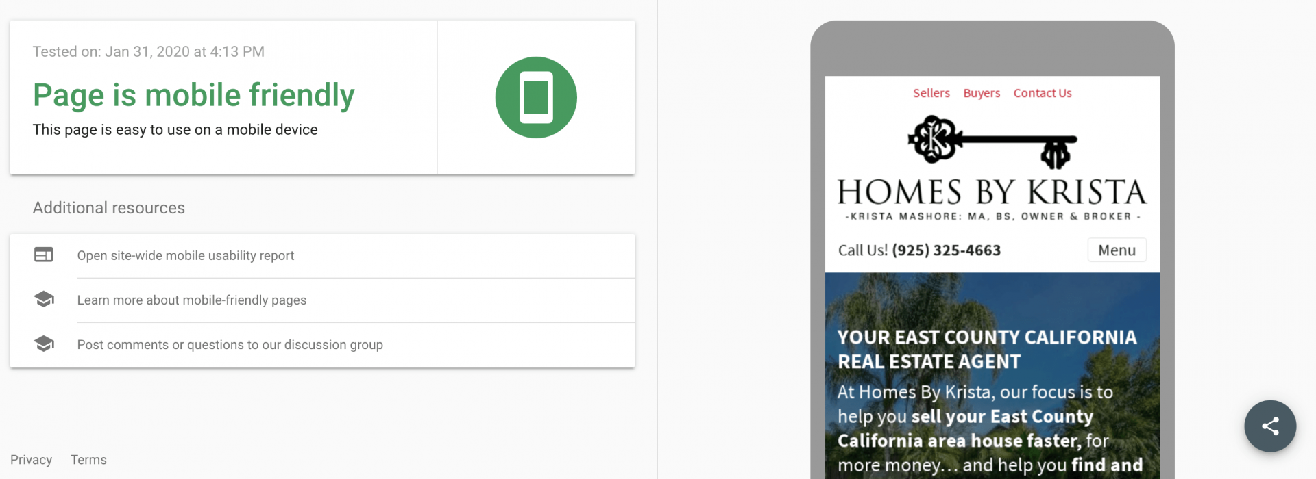 mobile friendly real estate website