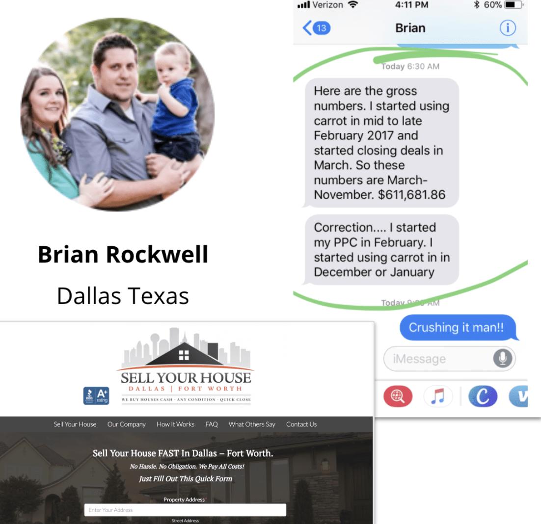 Brian Rockwell Carrot member success