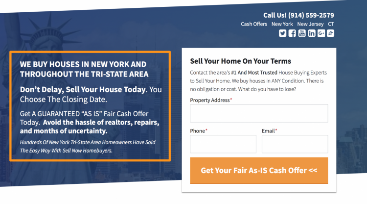 carrot real estate website form