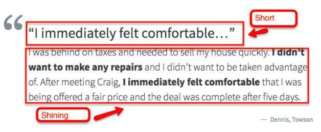 Real estate investor testimonial