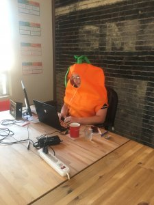 Shaun dressed as a Carrot