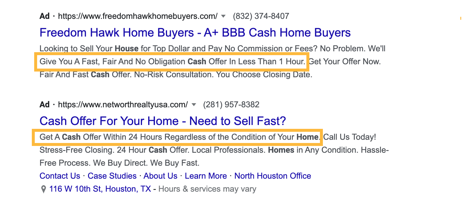 Strong And Clear Call To Action in google ads