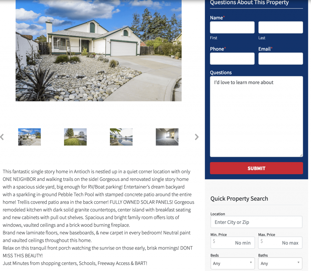 add emotional words to real estate property descriptions