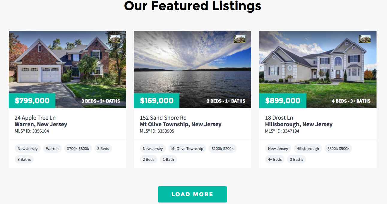 real estate agent featured listings