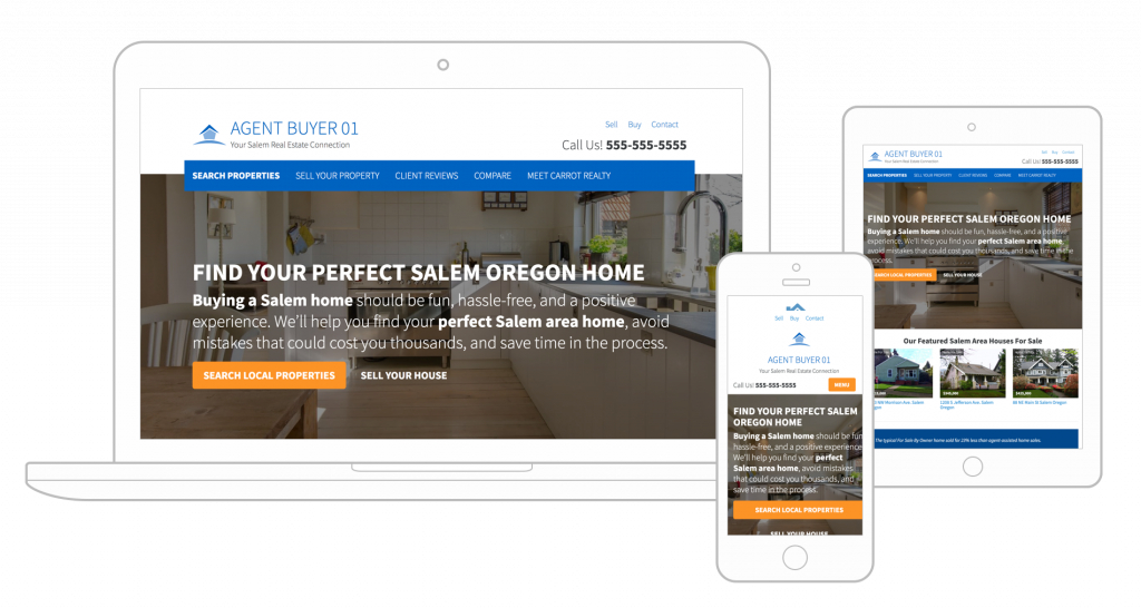 real estate agent websites and leads