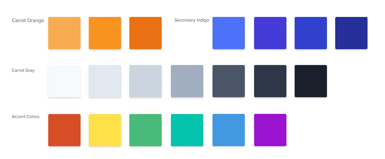 new Carrot color palette
