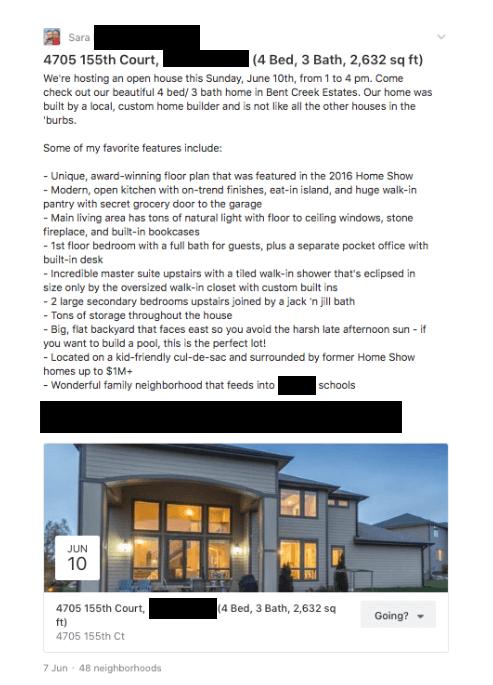 open house content ideas