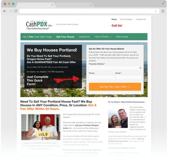 CashPDX Carrot Web Design