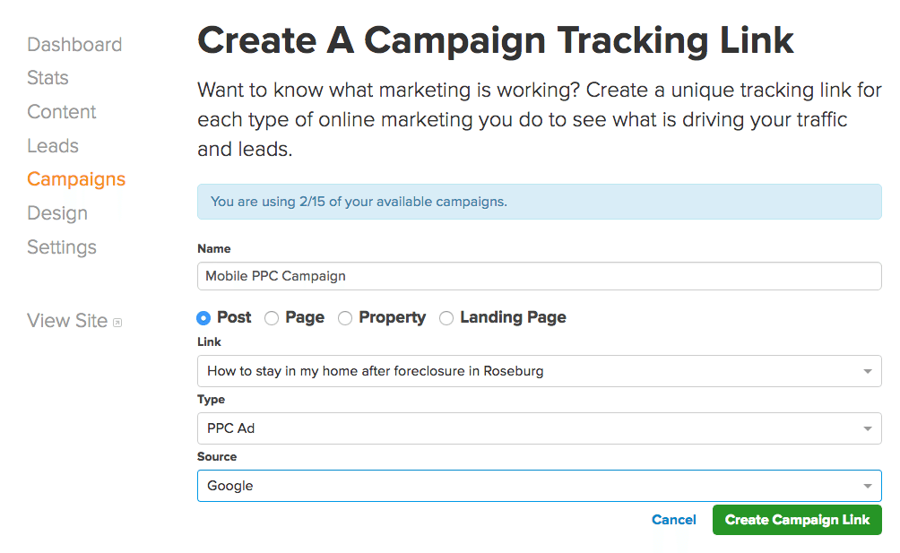 campaign trackers