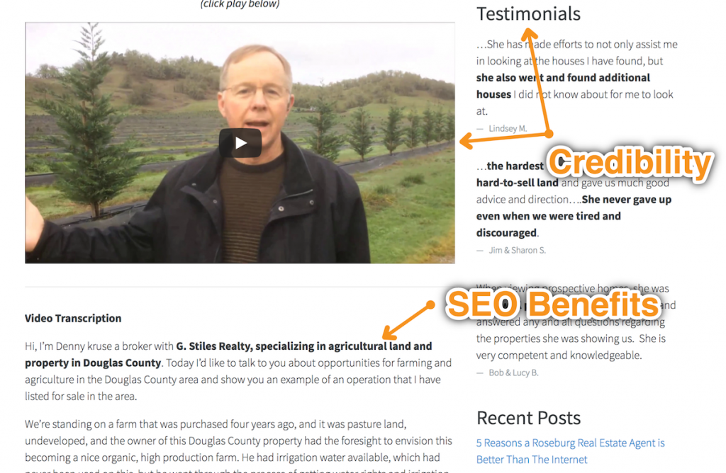 Carrot's VideoPost gives both SEO benefits and credibility benefits.