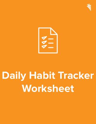 Daily Habit Tracker Worksheet